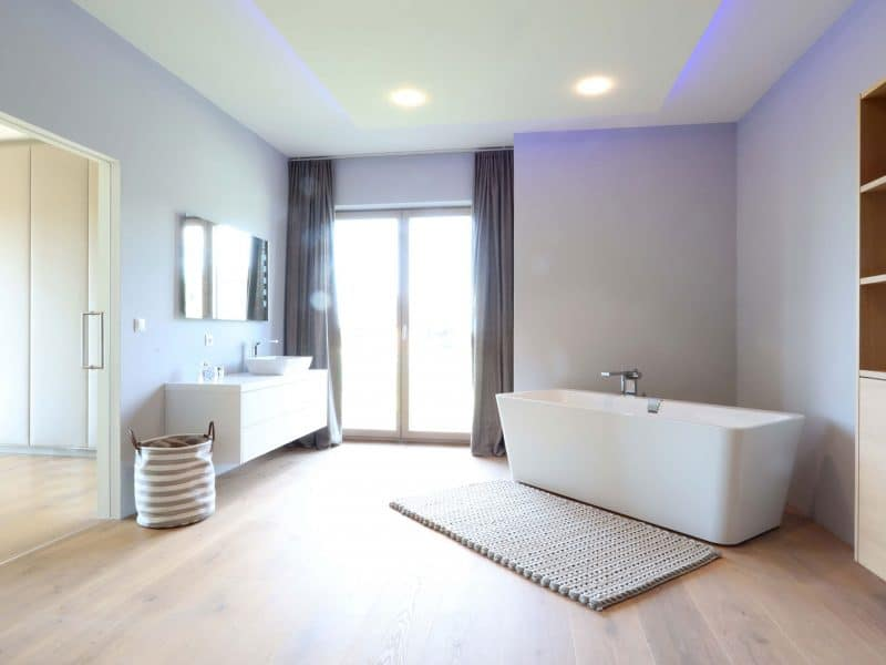 Badezimmer Tischlerarbeit | Beleuchtung Nimbus