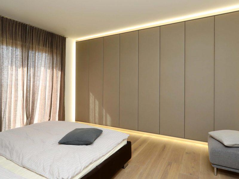 Schlafzimmer Tischlerarbeit | Beleuchtung Nimbus